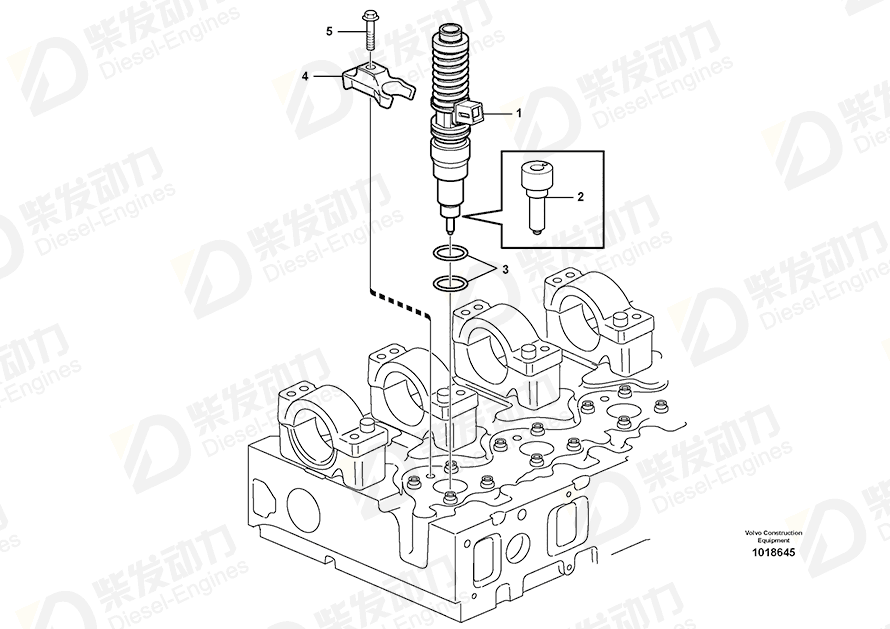 VOLVO Unit Injector 22172535 Drawing