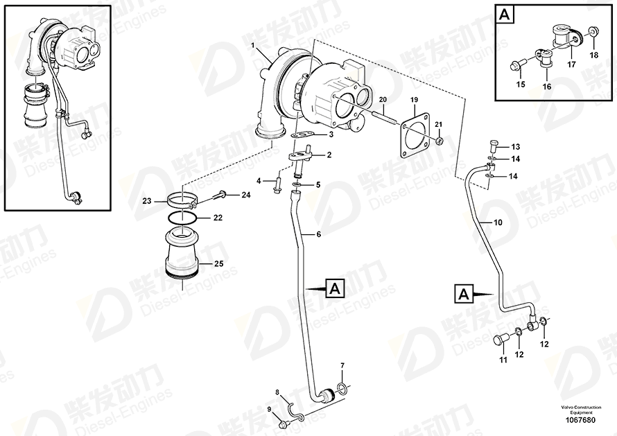 VOLVO Flange screw 20412340 Drawing