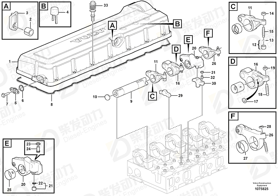 VOLVO Valve Cover 20709580 Drawing