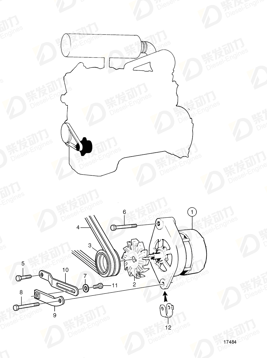 VOLVO Screw 847925 Drawing