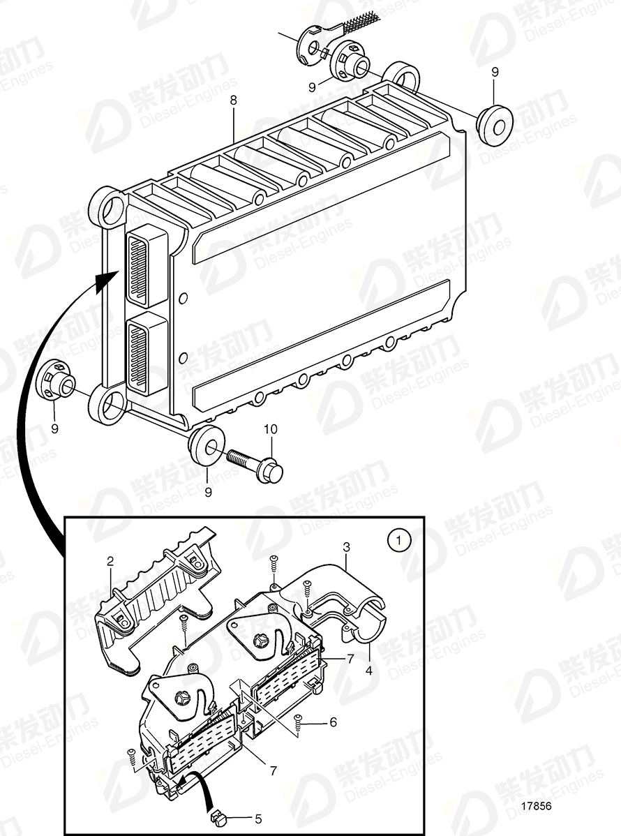 VOLVO Control unit, eecu 20582963 Drawing