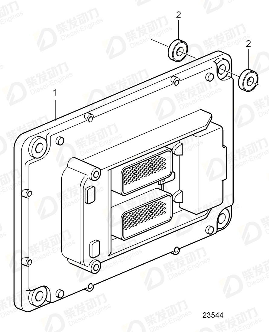 VOLVO Control unit 60100001 Drawing