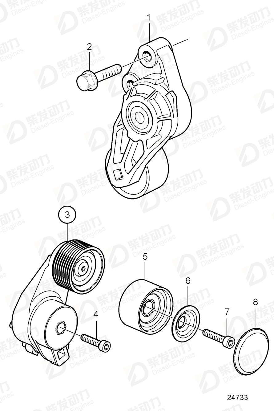 VOLVO Idler gear 3887305 Drawing