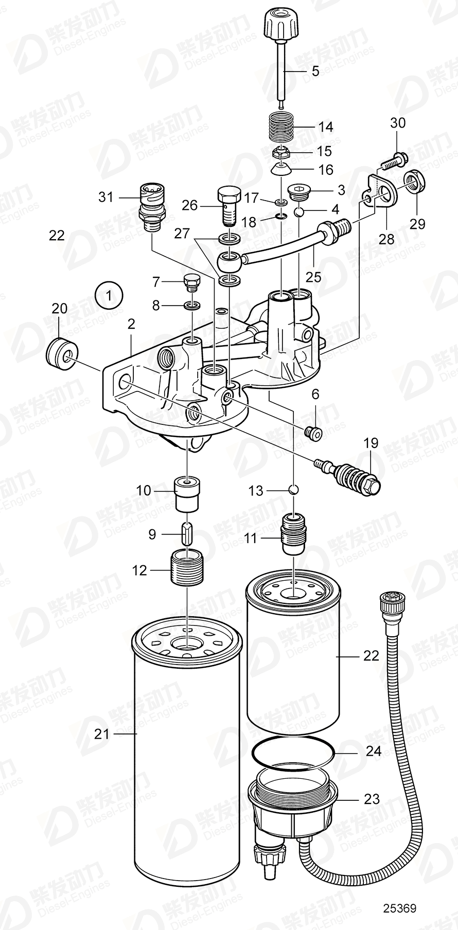 fuel filter housing 3848884 price volvo fuel system spare parts wholesale