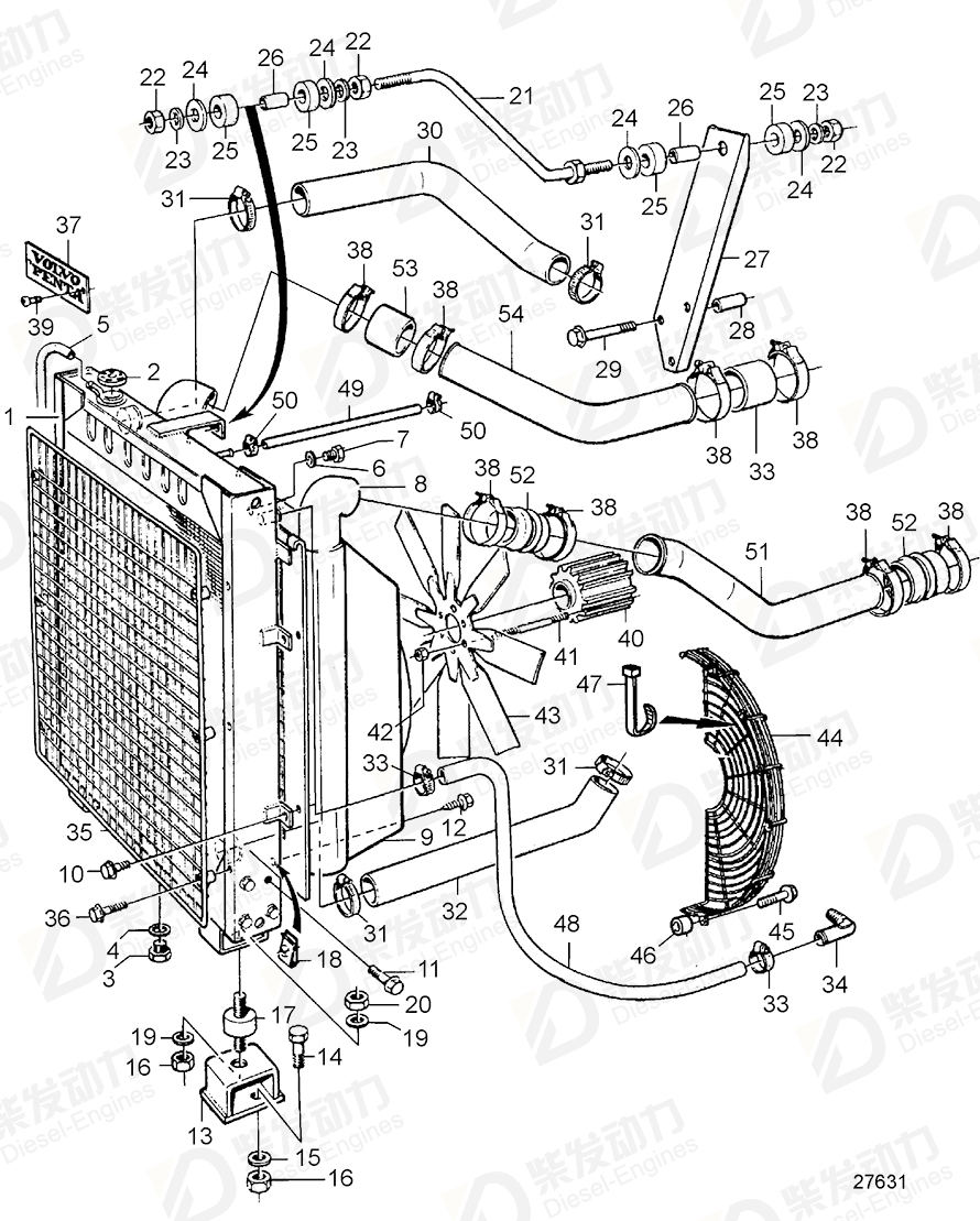 VOLVO Fan 3828964 Drawing